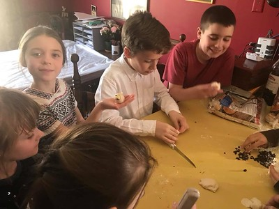 Church School Kids Making 40 Larks