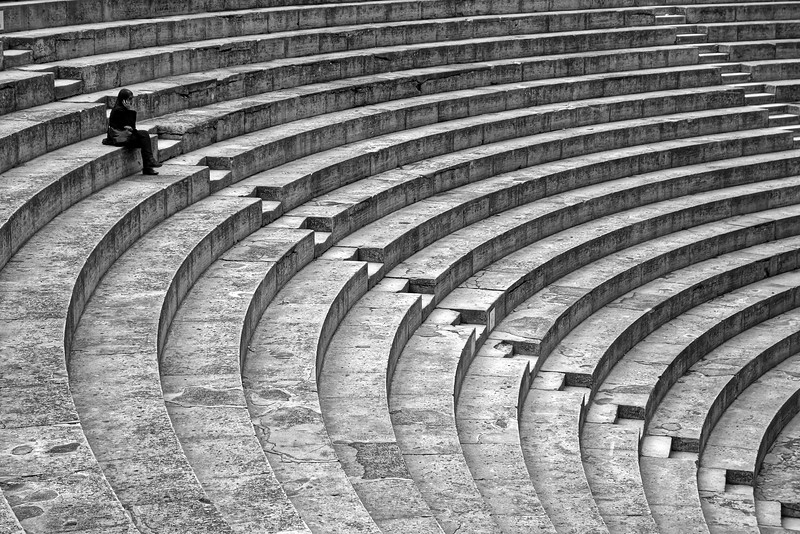 Solo Audio Tour in  Ampitheater, Dijon, France
