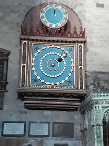 Exeter Astronomical Clock (1484); slightly blurred - sorry