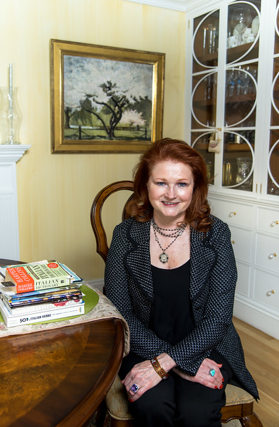 Stephanie Brown photographed for Bryn Mawr at her home in Boston, MA