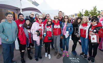 """""""Thing 1 Thing 2"""" was one of the top fundraising teams that joined thousands of people, including cancer survivors, their families and businesses, who participated in the annual American Cancer Society Making Strides Against Breast Cancer walk at Woodbury Common Premium Outlets in Central Valley, NY on Sunday, October 14, 2018. Hudson Valley Press/CHUCK STEWART, JR."""