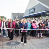 The ribbon is about to be cut, as thousands of people, including cancer survivors, their families and businesses, participated in the annual American Cancer Society Making Strides Against Breast Cancer walk at Woodbury Common Premium Outlets in Central Valley, NY on Sunday, October 14, 2018. Hudson Valley Press/CHUCK STEWART, JR.