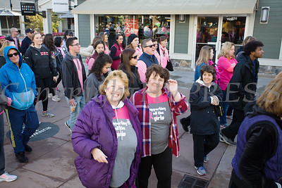 Thousands of people, including cancer survivors, their families and businesses, participated in the annual American Cancer Society Making Strides Against Breast Cancer walk at Woodbury Common Premium Outlets in Central Valley, NY on Sunday, October 14, 2018. Hudson Valley Press/CHUCK STEWART, JR.