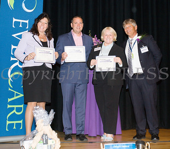 Dana Pavelock, EverCare Vice President Provider Relations Development (far right), presents citations to NYS Senator Sue Serino, Orange County Executive Steven Neuhaus and EverCare President & CEO Sylvia McTigue on Friday, June 15, 2018 at the 10th Annual Hudson Valley World Elder Abuse Awareness Day Conference held at Mount Saint Mary College in Newburgh, NY. Hudson Valley Press/CHUCK STEWART, JR.