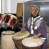 African Drummer Baba Kazi Oliver performs as the Healthy Community Outreach Project presented a kickoff celebration in the Community Room at the Mullins apartments on Saturday, February 3, 2018. Hudson Valley Press/CHUCK STEWART, JR.