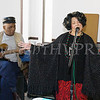 Lilliy Howard performs, accompanied by Greg Sharp, as the Healthy Community Outreach Project presented a kickoff celebration in the Community Room at the Mullins apartments on Saturday, February 3, 2018. Hudson Valley Press/CHUCK STEWART, JR.