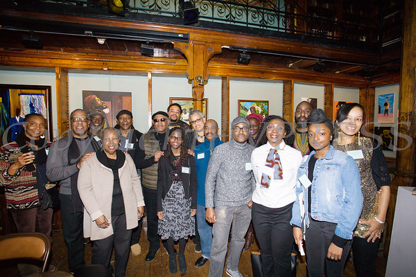 Over a dozen artists were on hand at Saturday's opening for the Howland Cultural Center's 24th Annual African American History Month Art Exhibit. Hudson Valley Press/CHUCK STEWART, JR.