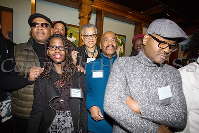 Richard Outlaw, Symantha Outlaw, Eddison Romeo, Ramona Candy, Oliver Spearman, and Jean Benoit were some of the artists who were on hand at Saturday's opening for the Howland Cultural Center's 24th Annual African American History Month Art Exhibit. Hudson Valley Press/CHUCK STEWART, JR.