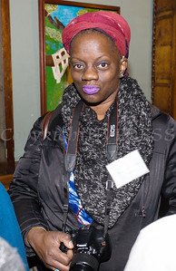 Shaunda Holloway was one of the artists who was on hand at Saturday's opening for the Howland Cultural Center's 24th Annual African American History Month Art Exhibit. Hudson Valley Press/CHUCK STEWART, JR.