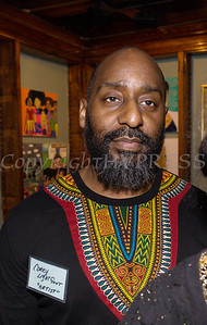 Corey Lightfoot was one of the artists who was on hand at Saturday's opening for the Howland Cultural Center's 24th Annual African American History Month Art Exhibit. Hudson Valley Press/CHUCK STEWART, JR.