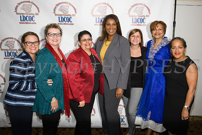 New York State Attorney General Candidate Letitia James poses for photos at the Latino Democratic Committee of Orange County Ffifteenth Annual Fall Dinner Dance at Cafe Internationale in Newburgh, NY on Saturday, October 13, 2018. Hudson Valley Press/CHUCK STEWART, JR.