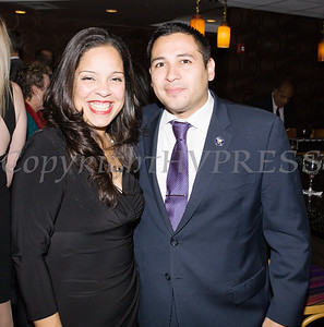 Jacqueline Hernandez and Kevindaryan Lujan at the Latino Democratic Committee of Orange County Ffifteenth Annual Fall Dinner Dance at Cafe Internationale in Newburgh, NY on Saturday, October 13, 2018. Hudson Valley Press/CHUCK STEWART, JR.