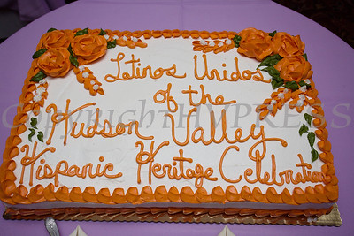 A cake from Valencia Bakery was created for Latinos Unidos of the Hudson Valley 13th Annual Hispanic Heritage Cultural Celebration at Anthony's Pier 9 in New Windsor, NY on Friday, October 12, 2018. Hudson Valley Press/CHUCK STEWART, JR.