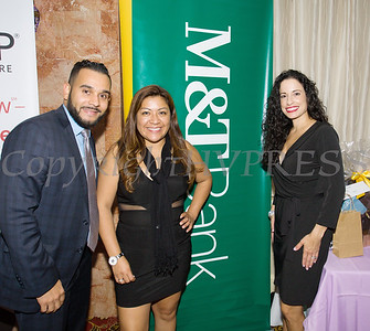 Representatives from M&T Bank were on hand for Latinos Unidos of the Hudson Valley 13th Annual Hispanic Heritage Cultural Celebration at Anthony's Pier 9 in New Windsor, NY on Friday, October 12, 2018. Hudson Valley Press/CHUCK STEWART, JR.