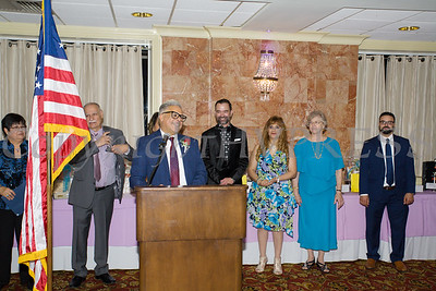 Jose Carrion offers remarks after he received the Hoy Award during Latinos Unidos of the Hudson Valley 13th Annual Hispanic Heritage Cultural Celebration at Anthony's Pier 9 in New Windsor, NY on Friday, October 12, 2018. Hudson Valley Press/CHUCK STEWART, JR.