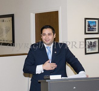 Newly elected Orange County Legislator for District 4, Kevindaryan Lujuan offers remarks after he took the oath of office on Tuesday, January 2, 2018. Hudson Valley Press/CHUCK STEWART, JR.