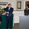 Newly elected Orange County Legislator for District 4, Kevindaryan Lujuan is administered the oath of office by Hon. Maria Vasquez-Doles while his Campaign Coordinator Rebekah Grohl holds the family Bibles on Tuesday, January 2, 2018. Hudson Valley Press/CHUCK STEWART, JR.