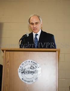Newburgh City Councilmember Jonathan Jacobson (Ward 3) offers remarks after taking the oath of office on Monday, January 1, 2018. Hudson Valley Press/CHUCK STEWART, JR.
