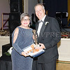 Orange County District Attorney David M. Hoovler, Esq. receives the Distinguished Service Award from Linda S. Muller during Cornerstone Family Healthcare's 19th Annual Pillars of the Community Gala held at Anthony's Pier 9 on Saturday, November 3, 2018. Hudson Valley Press/CHUCK STEWART, JR.