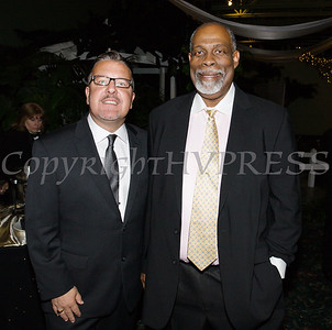 President of Walden Savings Bank and Pillar A;umni Derrik Wynkoop with Cornerstone Board of Directors member Colin Jarvis at Cornerstone Family Healthcare's 19th Annual Pillars of the Community Gala held at Anthony's Pier 9 on Saturday, November 3, 2018. Hudson Valley Press/CHUCK STEWART, JR.