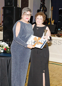 Raena Endick Korenman received the Lifetime Achievement Award from Linda S. Muller during Cornerstone Family Healthcare's 19th Annual Pillars of the Community Gala held at Anthony's Pier 9 on Saturday, November 3, 2018. Hudson Valley Press/CHUCK STEWART, JR.