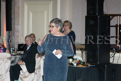 Cornerstone Family Healthcare's President & CEO Linda S. Muller addresses those gathered for the 19th Annual Pillars of the Community Gala held at Anthony's Pier 9 on Saturday, November 3, 2018. Hudson Valley Press/CHUCK STEWART, JR.