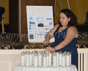 Candles are lite in remembrance for victims of domestic violence as Safe Homes of Orange County celebrated its 32nd Anniversary with a Celebration of Hope Gala on Friday, November 2, 2018. Hudson Valley Press/CHUCK STEWART, JR.