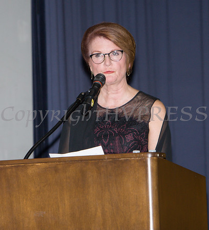 Joan Cusack-McGuirk, President & CEO of St. Luke's Cornwall Hospital received the Hope Award as Safe Homes of Orange County celebrated its 32nd Anniversary with a Celebration of Hope Gala on Friday, November 2, 2018. Hudson Valley Press/CHUCK STEWART, JR.