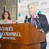 Steven M. Safyer MD, President and CEO Montefiore Medicine offers remarks as St. Luke's Cornwall Hospital announced Wednesday, January 31, 2018 that their partnership with Montefiore Health System has been approved by the New York State Health Commissioner. Hudson Valley Press/CHUCK STEWART, JR.