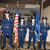 The Newburgh Free Academy AFJROTC presented the colors during the 20th Annual Tuition Assistance Awards Celebration of the Major General Irene Trowell-Harris Chapter of the Tuskegee Airmen, held on Saturday, February 3, 2018 at Anthony's Pier 9 in New Windsor, NY. Hudson Valley Press/CHUCK STEWART, JR.