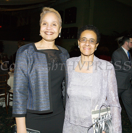 Diahan Scott and Major General Irene Trowell-Harris pose for a photo during the 20th Annual Tuition Assistance Awards Celebration of the Major General Irene Trowell-Harris Chapter of the Tuskegee Airmen, held on Saturday, February 3, 2018 at Anthony's Pier 9 in New Windsor, NY. Hudson Valley Press/CHUCK STEWART, JR.