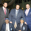 Gavin, James and Christian Farella pose with Tuskegee Airmen Wilfred DeFour and William Johnson during the 20th Annual Tuition Assistance Awards Celebration of the Major General Irene Trowell-Harris Chapter of the Tuskegee Airmen, held on Saturday, February 3, 2018 at Anthony's Pier 9 in New Windsor, NY. Hudson Valley Press/CHUCK STEWART, JR.