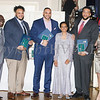 Gavin, James and Christian Farella, owners of Brothers Barbecue received the Trowell-Harris Award from Glendon Fraser, Major General Irene Trowell-Harris and Anne Palmer during the 20th Annual Tuition Assistance Awards Celebration of the Major General Irene Trowell-Harris Chapter of the Tuskegee Airmen, held on Saturday, February 3, 2018 at Anthony's Pier 9 in New Windsor, NY. Hudson Valley Press/CHUCK STEWART, JR.