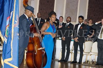 Acute Inflections sang the National Anthem for the 20th Annual Tuition Assistance Awards Celebration of the Major General Irene Trowell-Harris Chapter of the Tuskegee Airmen, held on Saturday, February 3, 2018 at Anthony's Pier 9 in New Windsor, NY. Hudson Valley Press/CHUCK STEWART, JR.
