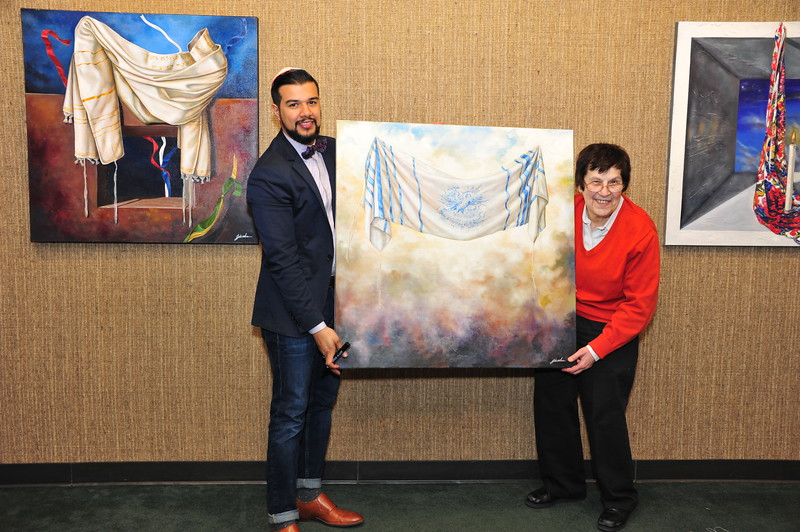Purchasing art  - proceeds shared by the synagogue, Kulanu, and the artist