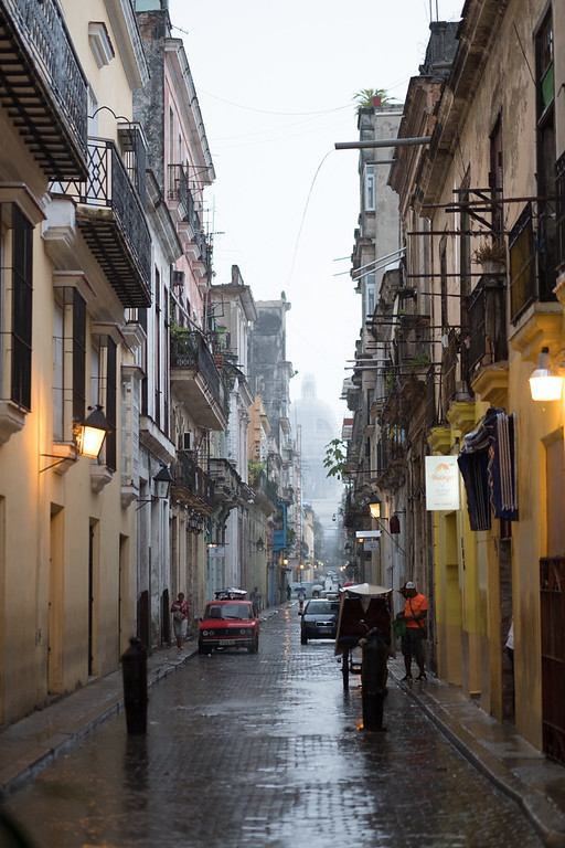 Куба, Гавана, дождь