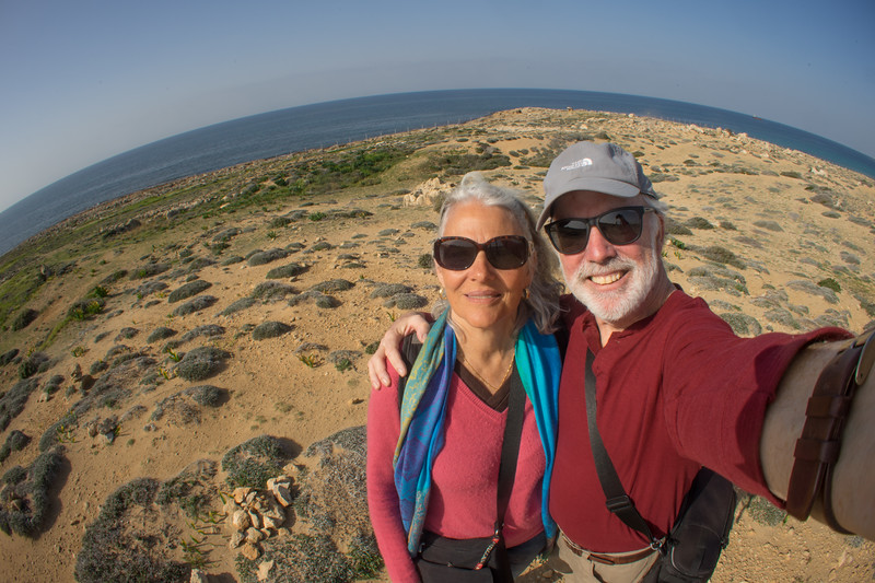 A wide angle selfie, it was a beautiful Spring-like day on the Med