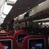 Virgin Atlantic Airbus A330-200 G-VMNK interior at London Heathrow on my flight VS400 to Dubai, which ends in March, 06.12.2018.