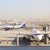 Dubai International Airport with an IndiGo Airbus A320 visible, 09.12.2018.