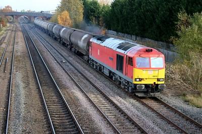 60019 1128/6M57 Lindsey-Kingsbury passes Burton on Trent  10/11/18