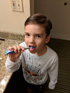 Proof that I made Will brush his teeth while we were gone