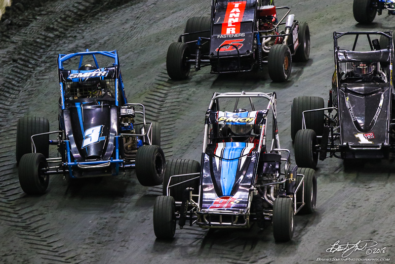 East Coast Indoor Dirt Nationals - CURE Insurance Arena - Trenton, NJ - 91s Billy  Pauch Jr , 3s Nathan  Smith