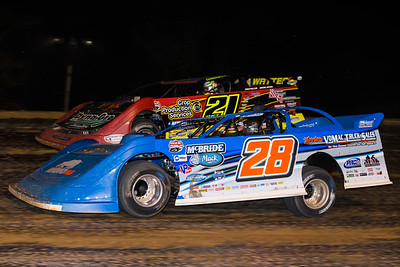 Dennis Erb, Jr. (28) and Billy Moyer, Jr. (21JR)