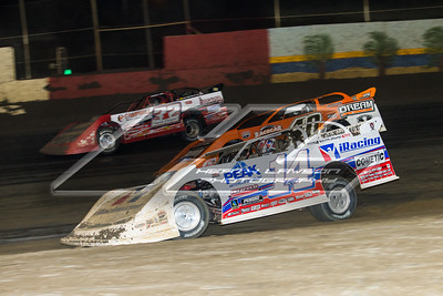 Darrell Lanigan (14), Kyle Bronson (40B) and Bobby Pierce (32)