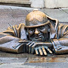 Cumin (Man at Work) statue in Bratislava Old Town
