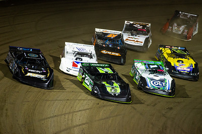 Jimmy Owens (20), Scott Bloomquist (0), Josh Richards (1), Darrell Lanigan (14), Billy Moyer (21), Ricky Thornton, Jr. (20RT), Robby Hensley (21) and Shannon Babb (18)