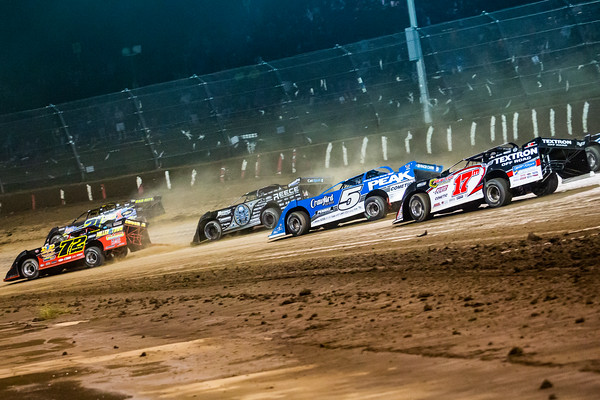 Michael Norris (72), Billy Moyer (21), Scott Bloomquist (0), Don O'Neal (5) and Dale McDowell (17M)