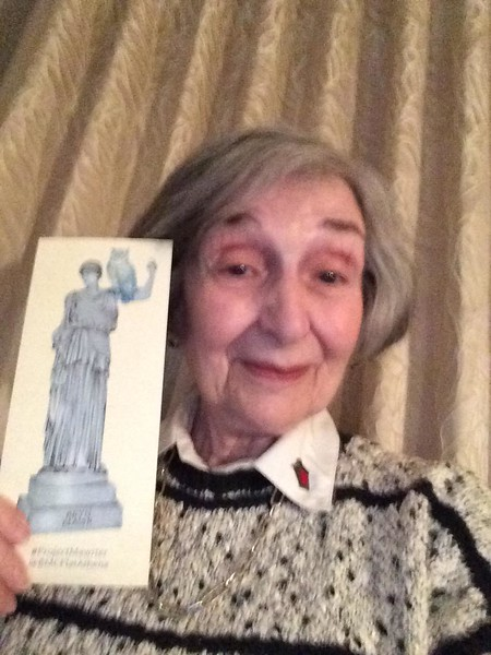 Flat Athena visited Miriam Diamond '57!