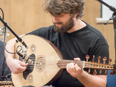 Lee Dynes plays the oud