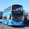 Ensignbus Volvo Wright Eclipse Gemini LK15GOK 127 in Grays on the 83 to Chadwell St. Mary, 17.02.2018.